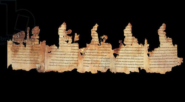 Section from the Temple Scroll, Qumram, c.1st century BC - 1st century AD (parchment)