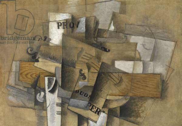 Still life with violin, 1913 (oil & charcoal on canvas)