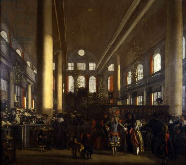 Portuguese Synagogue in Amsterdam, c.1680 (oil on canvas)