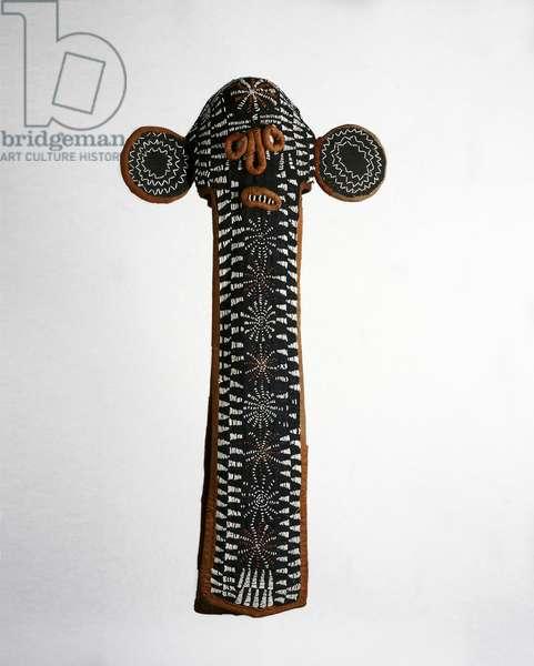 Elephant mask (kuosi) Bamileke people, Cameroon, late 19th-early 20th century (glass beads, textile & cowry shells)