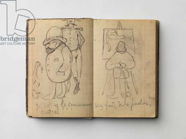 Police Man, illustrations from the 'Arles and Brittany Sketch Book', 1888-1901 (charcoal & pencil on paper)