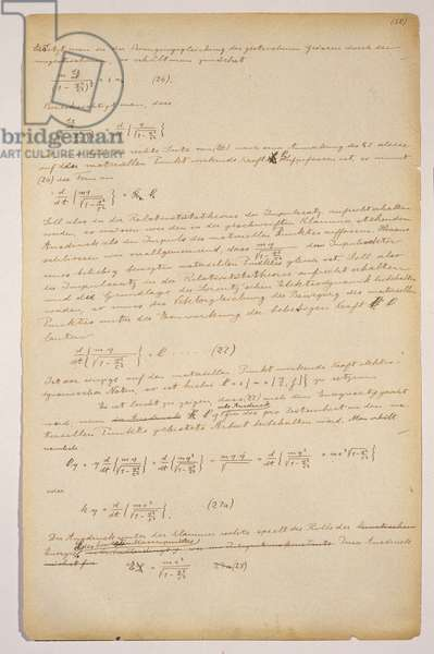 Special Theory of Relativity, 1912 (ink on paper)