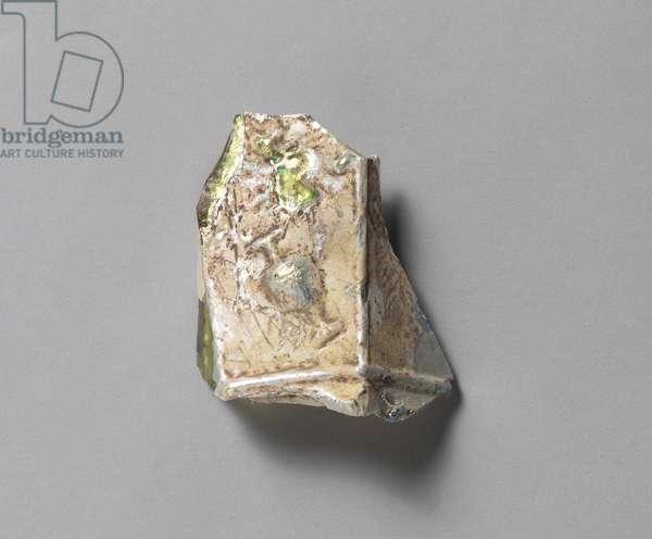 Fragment of a Hexagonal Vase, Jerusalem, Jewish Quarter (glass)