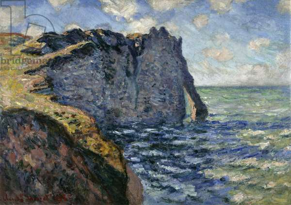 The Cliff of Aval, Etretat, 1885 (oil on canvas)