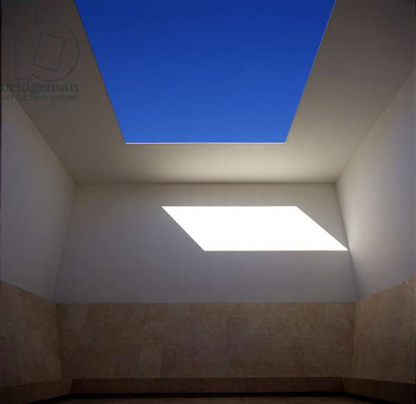 Space That Sees, 1992 (concrete, limestone & fluorescent lights)