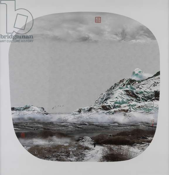 Yao Lu's New Landscape, Part 2 - Birds and Snow in the Cold Dusk, 2008 (chromogenic print)