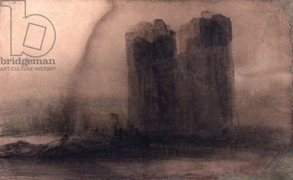 Vision of Notre-Dame, c.1831 (charcoal & Indian ink on paper)