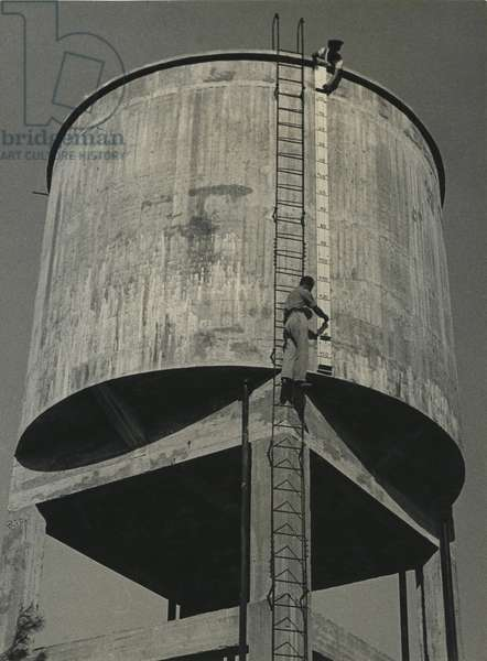 Water Tower on a Kibbutz, 1939 (b/w photo)