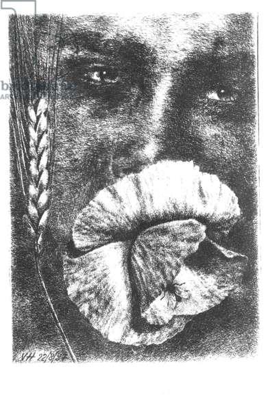 Portrait of Rene Char (1907-88) 1937 (drypoint)