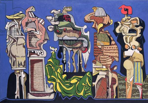 Speech of the Centaur to the Philosophers, 1947 (oil on canvas)