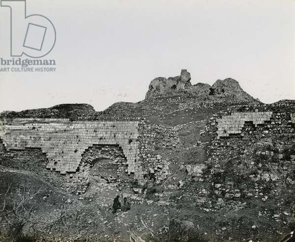 Ruins, Bethany from the west ?, 1850s (gelatin silver print)