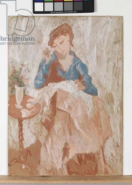 The Seamstress, 1906 (gouache on cardboard)