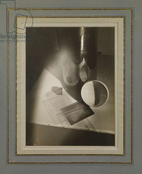 Composition with Bowl, Glass and Canvas, 1923 (gelatin silver print)