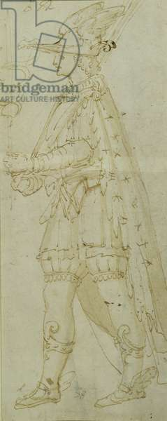 Costume of Mercury, c.1571 (brown ink & wash on paper)
