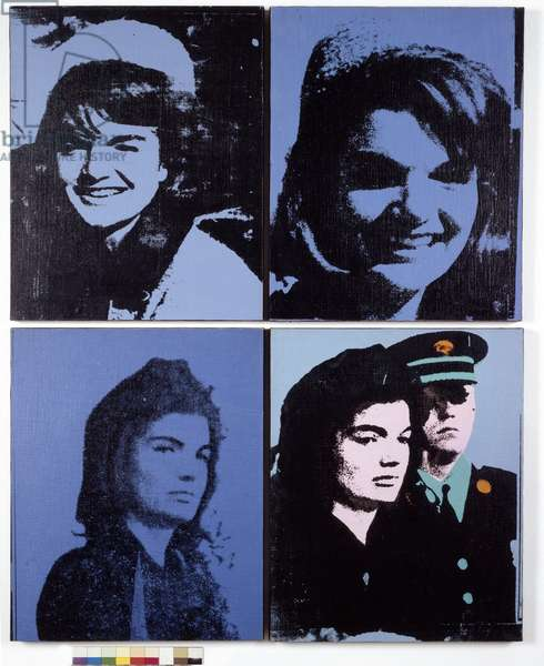 Chelsea 4 series: 4 Portrait of Jackie Kennedy, 1964 (silkscreen on canvas)