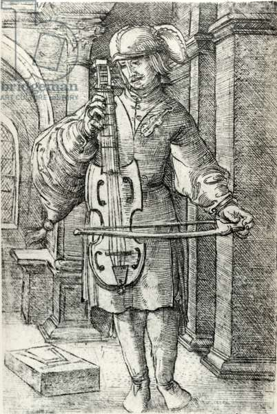 The Violin Player, c.1520-26 (engraving)