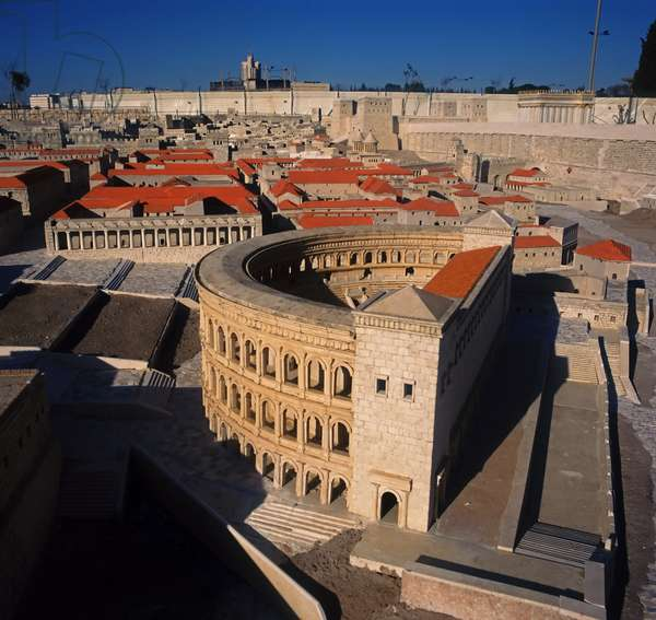 Model reconstruction of a theatre in Jerusalem in 66 AD (photo)