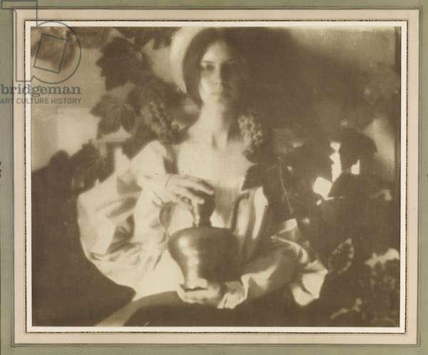 Golden October (Laura Seeley), 1909 (platinum & gum print)