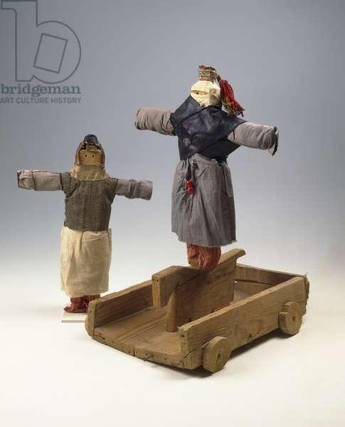 Purim dolls representing Haman and Zeresh, 1930s (mixed media)