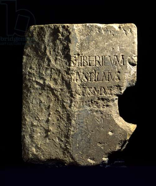 Latin dedicatory inscription of Pontius Pilate, Roman theatre at Caesarea, 26-36 AD (stone)