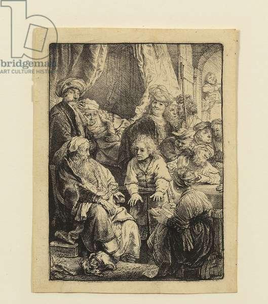 Joseph Telling his Dreams (etching)