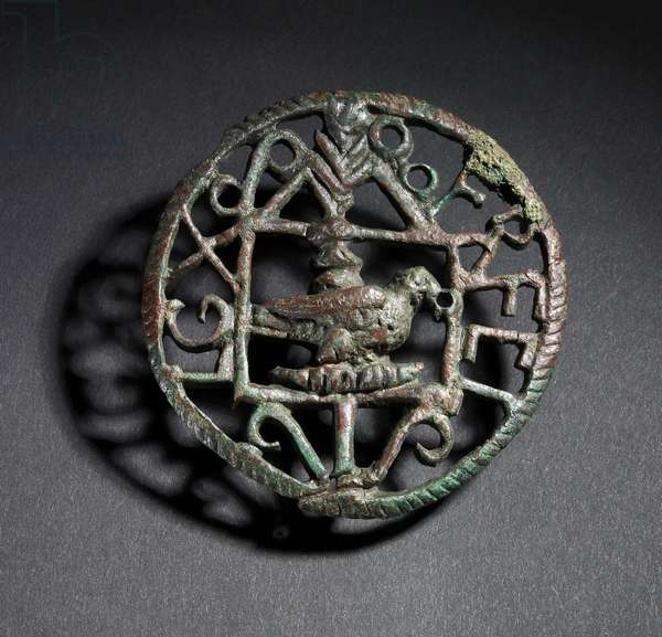 Brooch with Tenth Legion insignia (bronze)