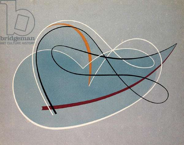 Untitled, 1958 (gouache & spray paint on paper)