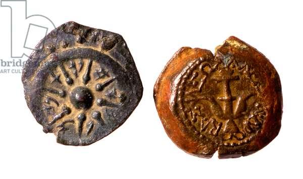 Hasmonean Coins of Alexander Jannaeus (bronze)