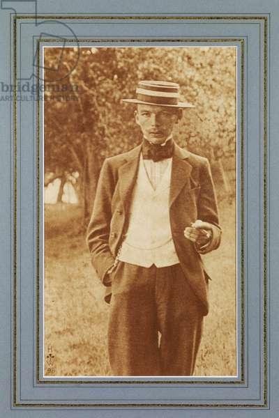 Portrait of an unknown man, 1898 (gum bichromate print)