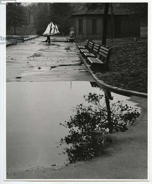 Central Park Boat Basin, New York, 1944 (silver gelatin print)
