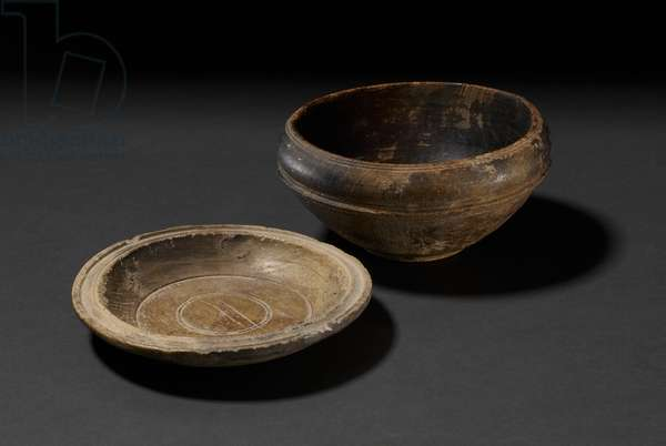Plate and bowl (wood)