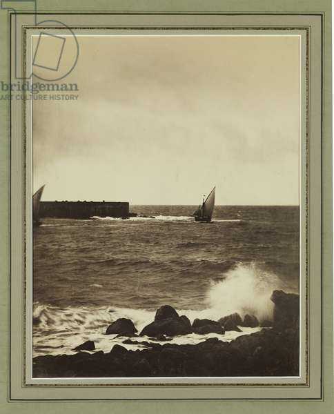 The Breaking Wave, Mediterranean, c.1857 (albumen print)