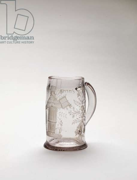 Cup for the 'Purim Rabbi' (glass)