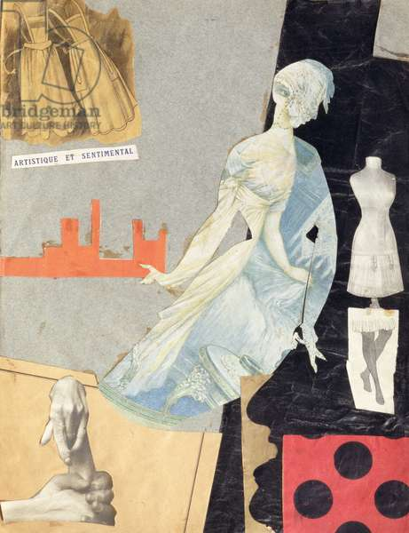 Artistic and Sentimental, 1921 (collage on paper)