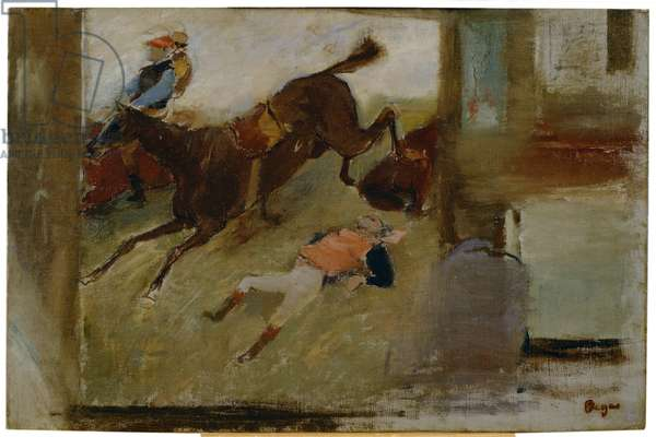 """Studio Interior with """"The Steeplechase"""", 1880-81 (oil on canvas on board)"""