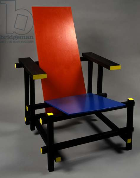 Red-Blue armchair, 1918 (wood)