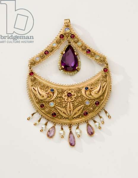 Piece of jewelry made in the Yemenite tradition, mid-20th century (mixed media)