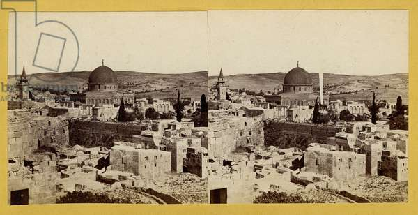 Panoramic View of the Temple Area, 1850s (albumen print)