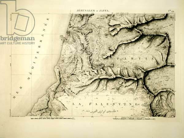 Jerusalem and Jaffa, sheet from 'Napoleon's Map', 1799 (etching)