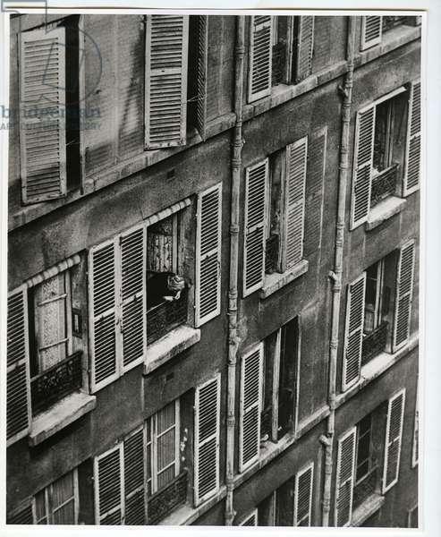 Rue Vavin, Paris, 1925 (silver gelatin print)