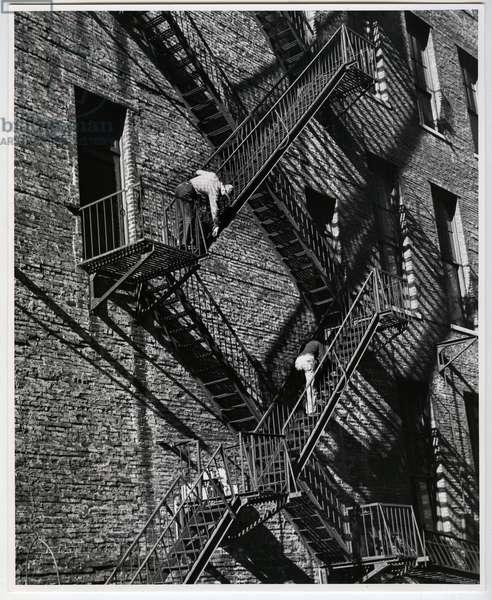 Fire escape, New York, 1949 (silver gelatin print)