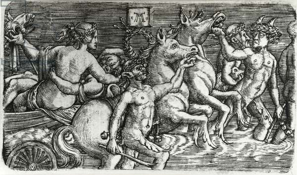 Lovers Borne in Triumph by Sea Gods, 1520-26 (engraving)
