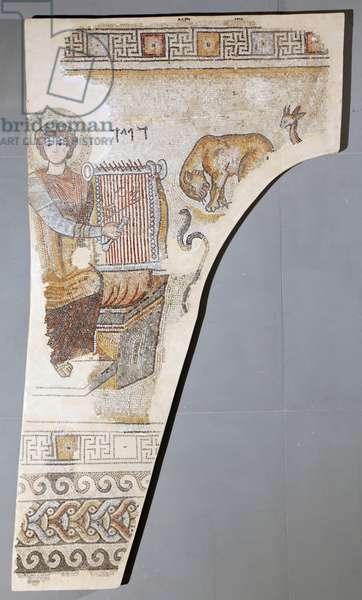 King David playing the Lyre (mosaic)