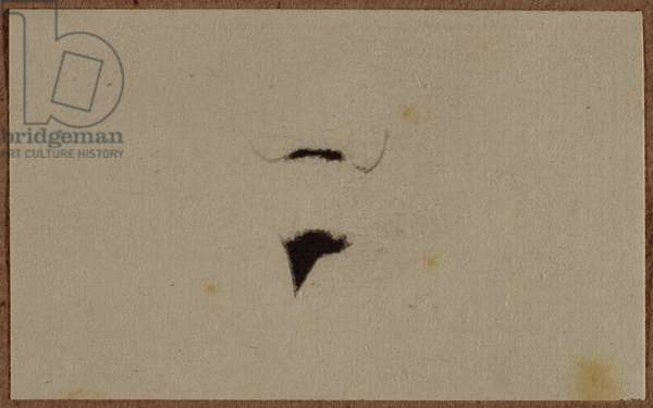 Moustache and beard of L.H.O.O.Q., frontispiece from Georges Hugnet's poem 'Marcel Duchamp', published by Hugnet, May 1941 (litho)