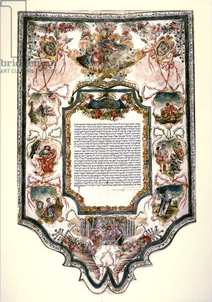 Jewish Marriage Contract (pen & ink and tempera on parchment;