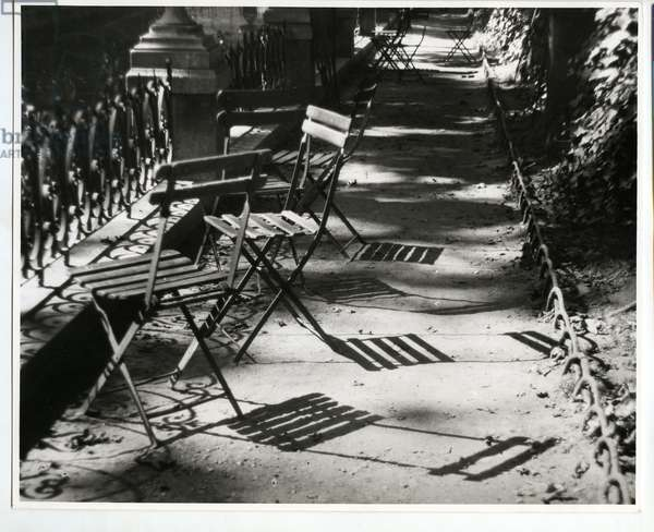 Chairs by the Medici Fountain, Paris, 1925 (silver gelatin print)