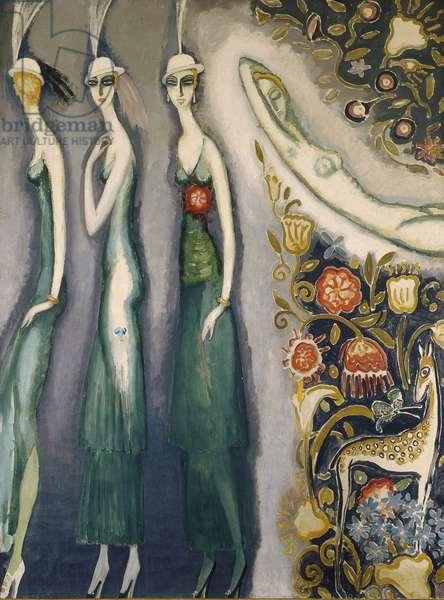 Montparnasse Blues, 1922-25 (oil on canvas)