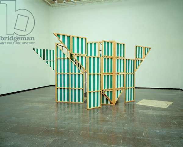 Cabane Eclatee V2-21 By 1, 1989 (wood and fabric)