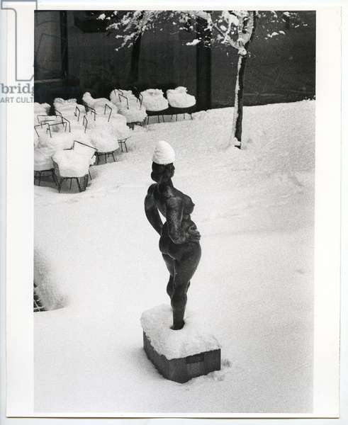 Standing Woman by Gaston Lachaise in the Museum of Modern Art, New York, 1967 (silver gelatin print)