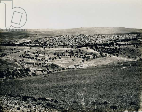 View from Mt. Scopus, 1850s (gelatin silver print)
